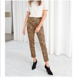 & OTHER STORIES Leopard Print Corduroy Trousers